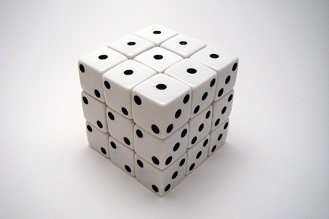 Cubo Rubik com dados