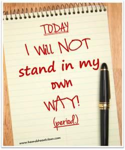 Hoje eu não vou bloquear o meu sucesso