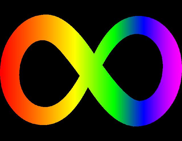 Símbolo da diversidade no espectro autista assim como do movimento neurodiverso como um todo